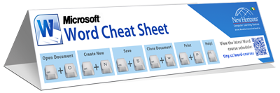 Word keyboard shortcut cheat sheet